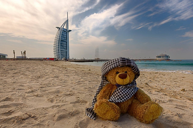 Teddy Land: Christian Kneidinger traveling with his Teddy in Dubai