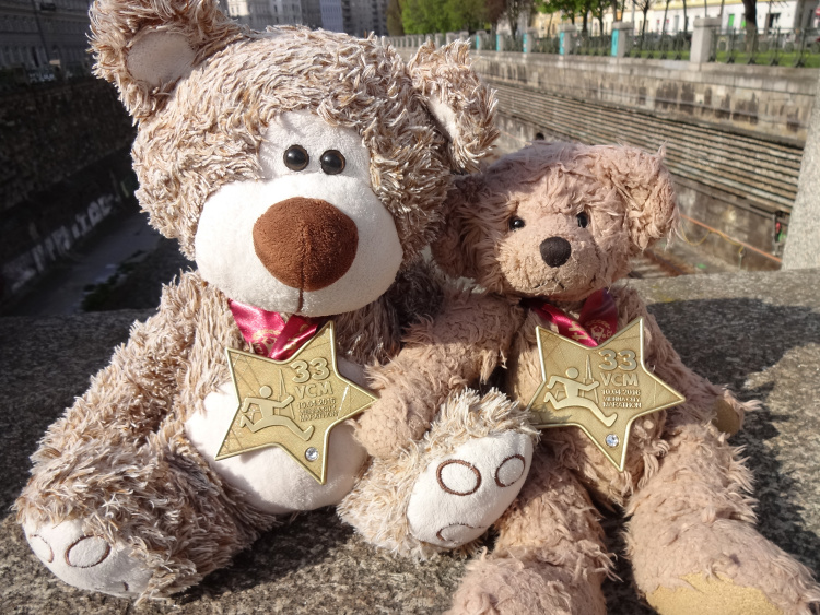 Teddy Land: 33 Vienna City Marathon 10-04-2016