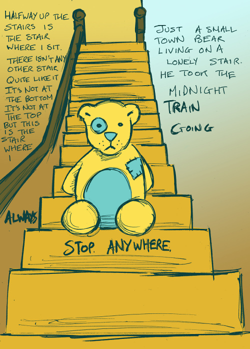 Teddy Land: Bear on the stair
