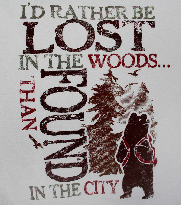 Teddy land: I'd rather be lost in the woods than found in the city