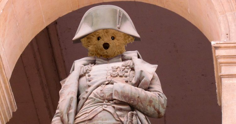 Teddy Land: Napoleon Bonaparte with his hand in the jacket