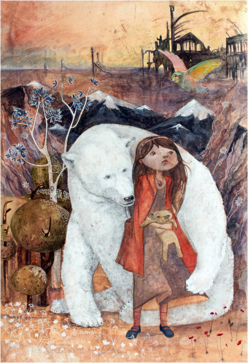 "Teddy Land: Illustration by Tatyana Glebova for ""East"" by Edith Pattou"