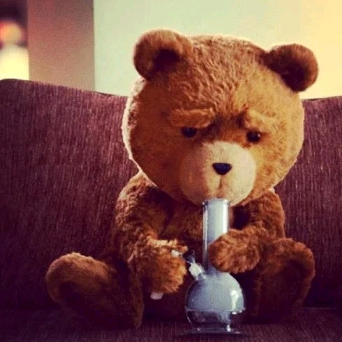 Teddy Land: Ted with bong