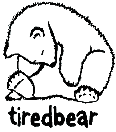 Teddy land: Tired Bear logo
