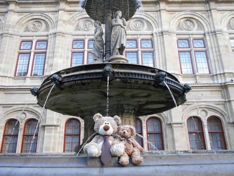 Teddy Land: Vienna State Opera backdoor