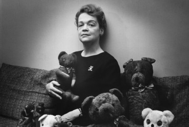 Unidentified woman and teddy bears.