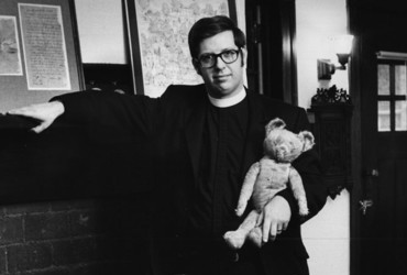 The Rev. Stephen Williamson of Wilkes-Barre, Pa., with teddy bears and sons, 1970.