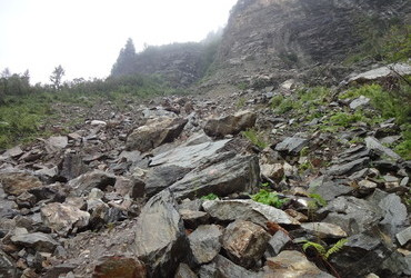 Big landslide happened in October 2014
