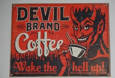 Devil Brand Coffee - Wake the hell up!