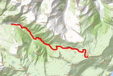 The route - 13 km, 1377 denivelation
