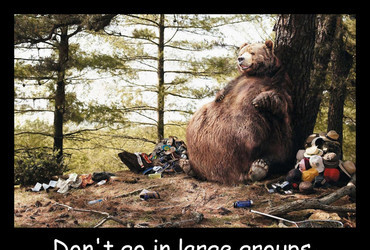 Don't go in large groups. Bears are overeating.