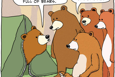 Greg and Karen say it wouldn't be a party without a whole tent full of bears.