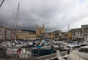 Old Harbour and the church, Bastia - Corsica, France
