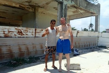 What are the chances that the only two ​men on the beach are called Juri​. Our Cuban friend is named after Juri Gagarin.
