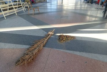 This is what a broom looks like.