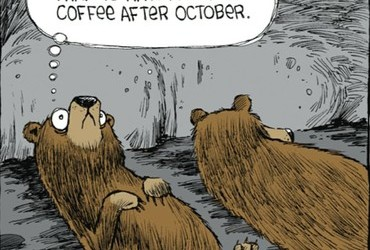 Darn it, I know better than to have a cup of coffee after October