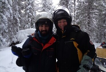 9.II.2019 - With Aiden, on the way up Dyatlov Pass