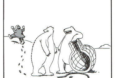 I lift, you grab... was that concept just a little too complex, Carl? - Gary Larson