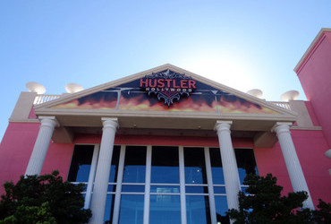 Hustler is conveniently across the street from Range 702