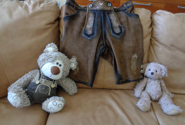 Brought me Lederhosen for after the holidays when I will be one or two sizes bigger.