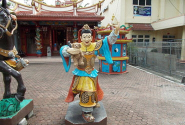 The wrath of the deity - Chinese temple in Manado