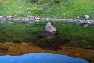 The stone in the morning at  Krottensee 1940 m