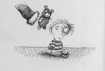 Unwisely, Santa offered a teddy bear to James, unaware that he had been mauled by a grizzly earlier that year. - Tim Burton