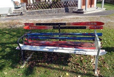 Weißenbach bei Liezen, are benches made from the skis found in spring when the snow melts?