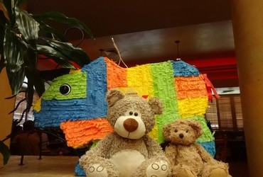 Piñata teaches kids from early age that if you hit hard enough you get what you want!