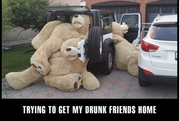 Trying to get my drunk friends home