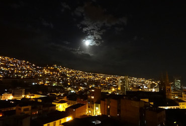 La Paz at night, Bolivia
