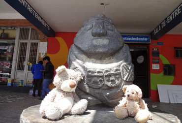 Monolith with Teddy Bears - Huaraz, Peru