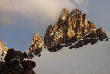 Sexton Dolomites - Cima Dodici (Twelve peaks) at sunset
