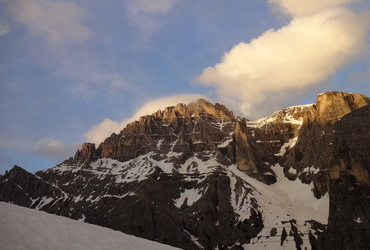 Sexton Dolomites - Cima Undici (Peak Eleven) at sunset