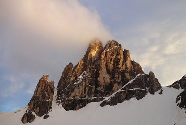 Sexton Dolomites - Cima Dodici (Peak Twelve) at sunset