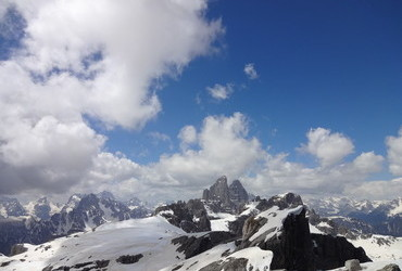 Sexton Dolomites - view from Oberbachernspitze