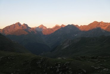 Trans Pyrenees 2013 - Refuge de Pombie, France, Sunrise