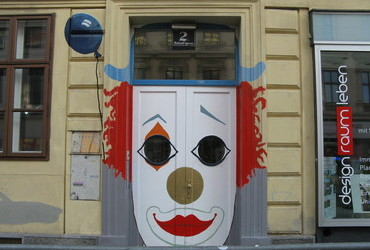 Clown door - Vienna, Austria