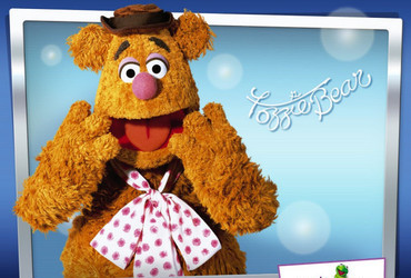 Fozzie Bear created by Jim Henson for The Muppet Show. He likes to say 'wocka wocka wocka'.