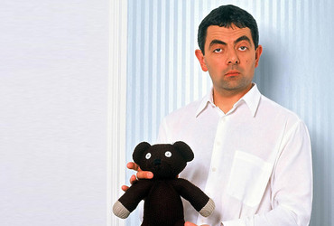 Mr Bean's Teddy Bear - brown knitted toy from the British comedy Mr Bean 1990