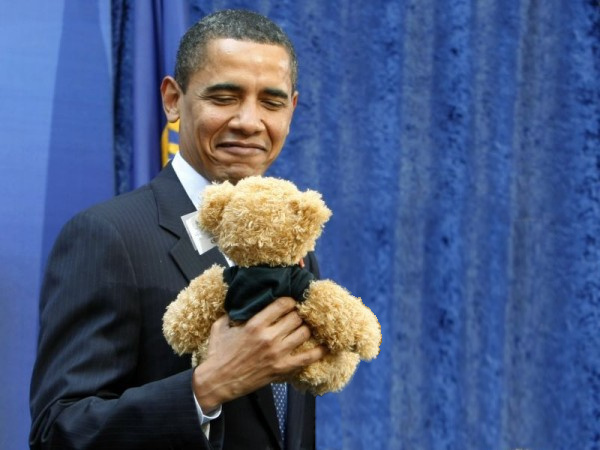 Teddy Land: Obama with a Teddy Bear
