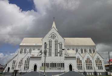 St. George's Anglican Cathedral 1889 - 44m reputed to the tallest wooden building in the world - Georgetown, Guyana