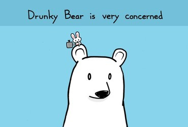 Drunky bear is very concerned that you haven't been drinking enough. Sebastien Millon