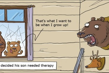 That's what I want to be when I grow up!  –  When Arnie decided his son needed therapy. - Wumo