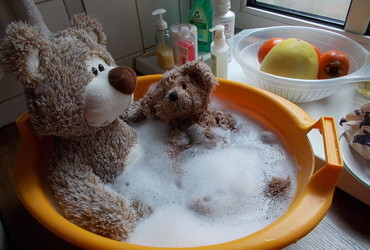 The Bubbly Bubble Bath - getting ready for the postoperative snuggle