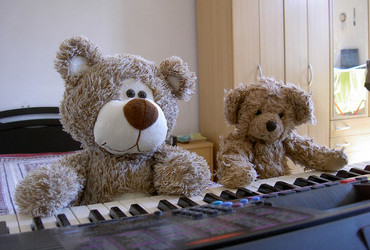 Concerto for four paws - Bearlioz and Beartolt Brecht on the piano