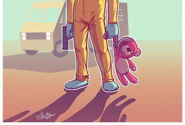 Breaking Bad Walt with Teddy Bear by pathsteve