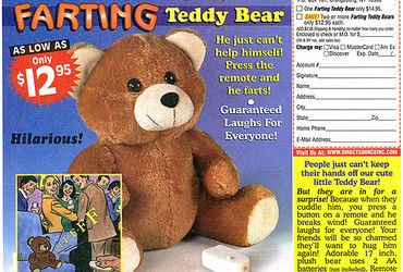 Novelties - farting Teddy Bear