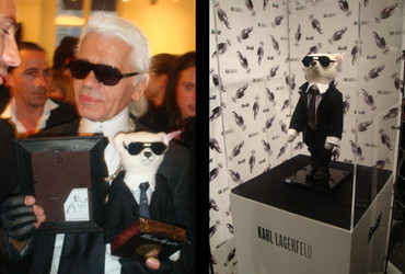 Karl Lagerfeld and His Teddy Bear